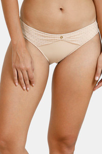 Buy Zivame Ornate Glitz Low Rise Bikini Panty With Mesh Detail - Cuban Sand