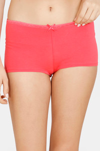 Buy Zivame Mid Rise Full Coverage Antimicrobial Boy Short Panty -Paradise Pink