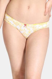 Buy Zivame Rhapsody Of Blue Bikini Low Rise Panty - Yellow