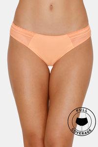 Buy Zivame Airy Lace Bikini Low Rise Panty - Orange