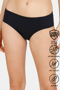 Buy Zivame Copper Infused Hipster Low Rise Full Coverage Panty - Anthracite