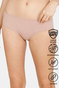 Buy Zivame Copper Infused Hipster Low Rise Full Coverage Panty - Roebuck