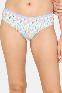 Buy Zivame Abstract Colorplay Hipster Low Rise Panty - Blue Pt