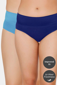 Buy Zivame (Pack of 2) Tummy Tucker Hipster High Rise Panty - Blue Depth Pacific Coast