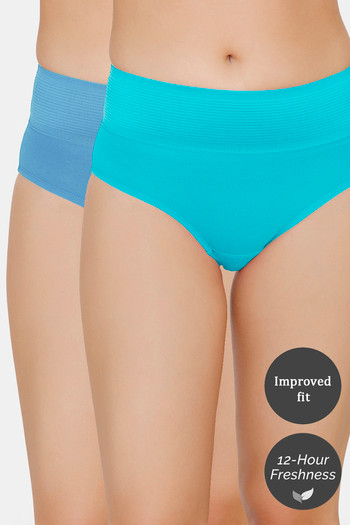 Zivame  Pack of 2  Tummy Tucker Hipster High Rise Panty   Ceramic Pacific Coast