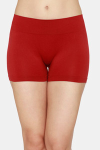 Buy Zivame Mid Rise Full Coverage Antimicrobial Boy Short Panty - Sundried Tomato