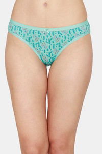 Buy Zivame Bikini Low Rise Full Coverage Panty - Green Floral