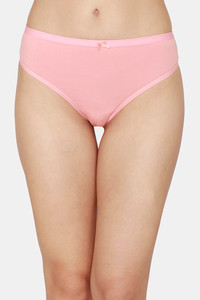 Buy Zivame Low Rise Cotton Thong - Peach