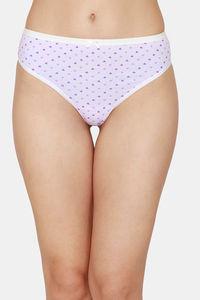 Buy Zivame Low Rise Cotton Thong - Purple Heart