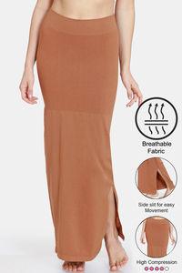Buy Zivame High Compression Slit Mermaid Saree Shapewear - Brown