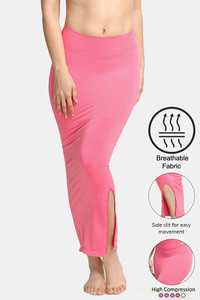 Buy Zivame High Compression Slit Mermaid Saree Shapewear - Dark Pink