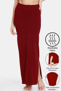 Buy Zivame High Compression Slit Mermaid Saree Shapewear - Maroon