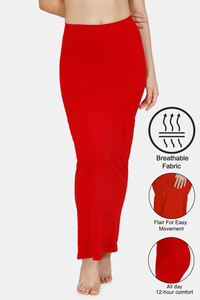 Buy Zivame All Day Flared Mermaid Saree Shape wear - Red Bud