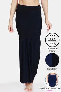 Buy Zivame All Day Flared Mermaid Reversible Saree Shapewear- Black Navy