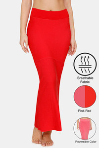 Buy Zivame All Day Flared Mermaid Reversible Saree Shapewear- Red Pink