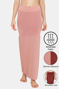 Buy Zivame All Day Flared Mermaid Reversible Saree Shapewear- Salmon Maroon