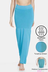 Buy Zivame All Day Flared Mermaid Reversible Saree Shapewear- Turq Blue Green