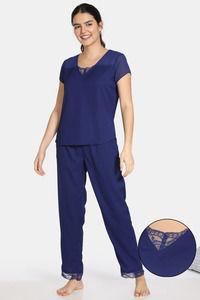 Buy Zivame Bridal Trousseau Polyester Pyjama Set - Navy