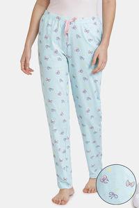 Buy Zivame Slumber Chic Knit Cotton Pyjama - Mint