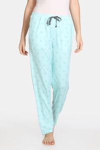 Buy Zivame Nordic Nights Knit Cotton Blend Pyjama - Green