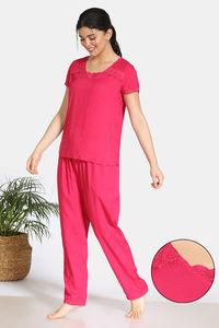 Buy Zivame Bridal Trousseau Rayon Pyjama Set - Pink