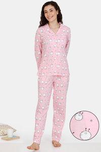 Buy Zivame Crazy Farm Cotton Pyjama Set - Pink