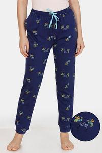 Buy Zivame Queen Bee Cotton Pyjama - Navy Blue