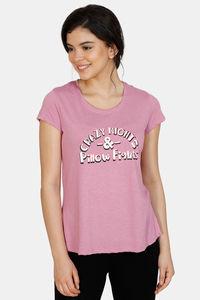 Buy Zivame Queen Bee Poly Cotton Top - Pink