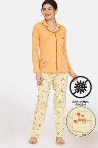 Buy Zivame City Lights Antiviral Finish Cotton Pyjama Set -  Yellow