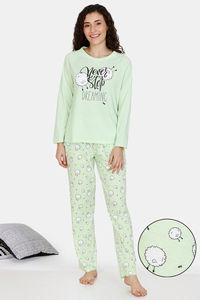 Buy Zivame Crazy Farm Cotton Pyjama Set - Green