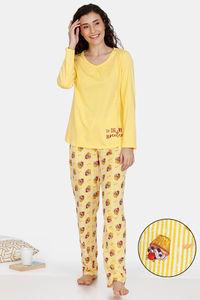 Buy Zivame Sweet Treats Cotton Pyjama Set - Yellow
