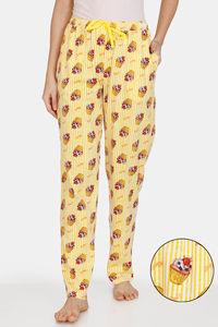 Buy Zivame Sweet Treats Cotton Pyjama - Yellow