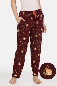 Buy Zivame Queen Bee Cotton Pyjama - Wine