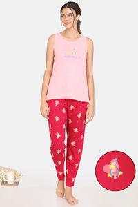Buy Zivame My Besties Cotton Pyjama Set -Cerise