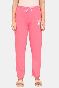 Buy Zivame Pretty Floral Cotton Pyjama -Pink Lemonade