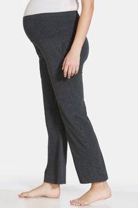 Buy Zivame Maternity Knit Cotton Pyjama - Anthra Melange