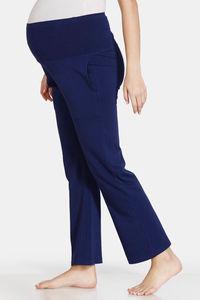 Buy Zivame Maternity Knit Cotton Pyjama - Medieval Blue