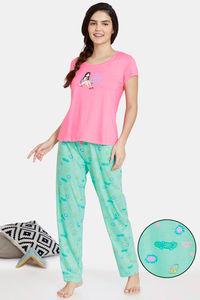 Buy Zivame Her World Cotton Pyajama Sets - Ice Green