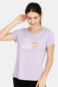 Buy Zivame Her World Cotton Top - Lavender