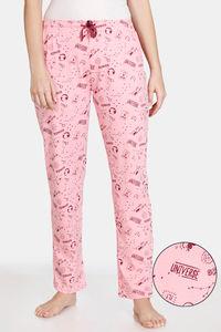 Buy Zivame Galaxy Print Cotton Pyjama  - Candy Pink