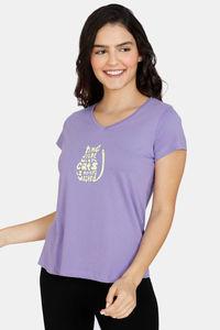 Buy Zivame My Besties Cotton Top- Dahlia Purple