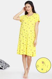 Buy Zivame Her World Cotton Knee Length Nightdress - Aurora