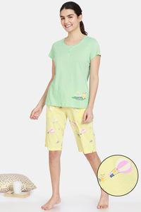 Buy Zivame Anniversary Knit Cotton Shorts Set -Popcorn