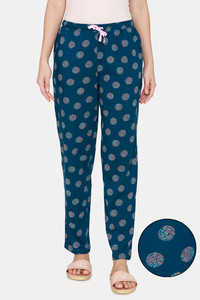 Buy Zivame Impression Cotton Pyajama - Sailor Blue