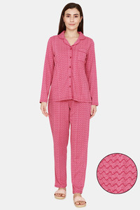 Buy Zivame Impression Knit Cotton Pyajama Set - Malaga