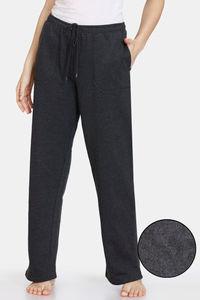 Buy Zivame Fleece Marl Knit Cotton Pyjama - Anthracite