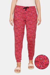 Buy Zivame Sleepy Owl Butter-Soft Poly Knit Pyjama - Fruit Dove