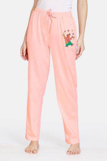 Zivame Tom  amp; Jerry Anniversary Knit Poly Pyjama   Peach Pearl