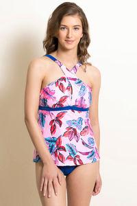 Buy Zivame Padded Cross Back Tankini Set - Pink N Print