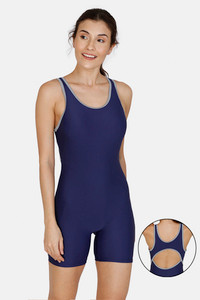 Buy Zivame Knee Length Swim Bodysuit With Removable Padding - Sky Blue